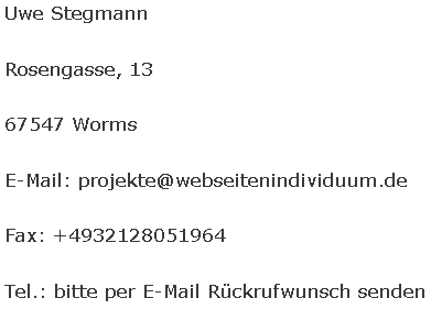 Webseitenindividuum Individuelle Webseitenprojekte